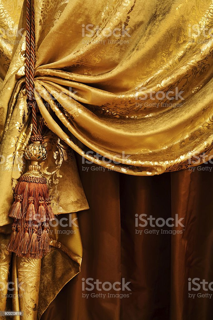 curtain with an ornament stock photo