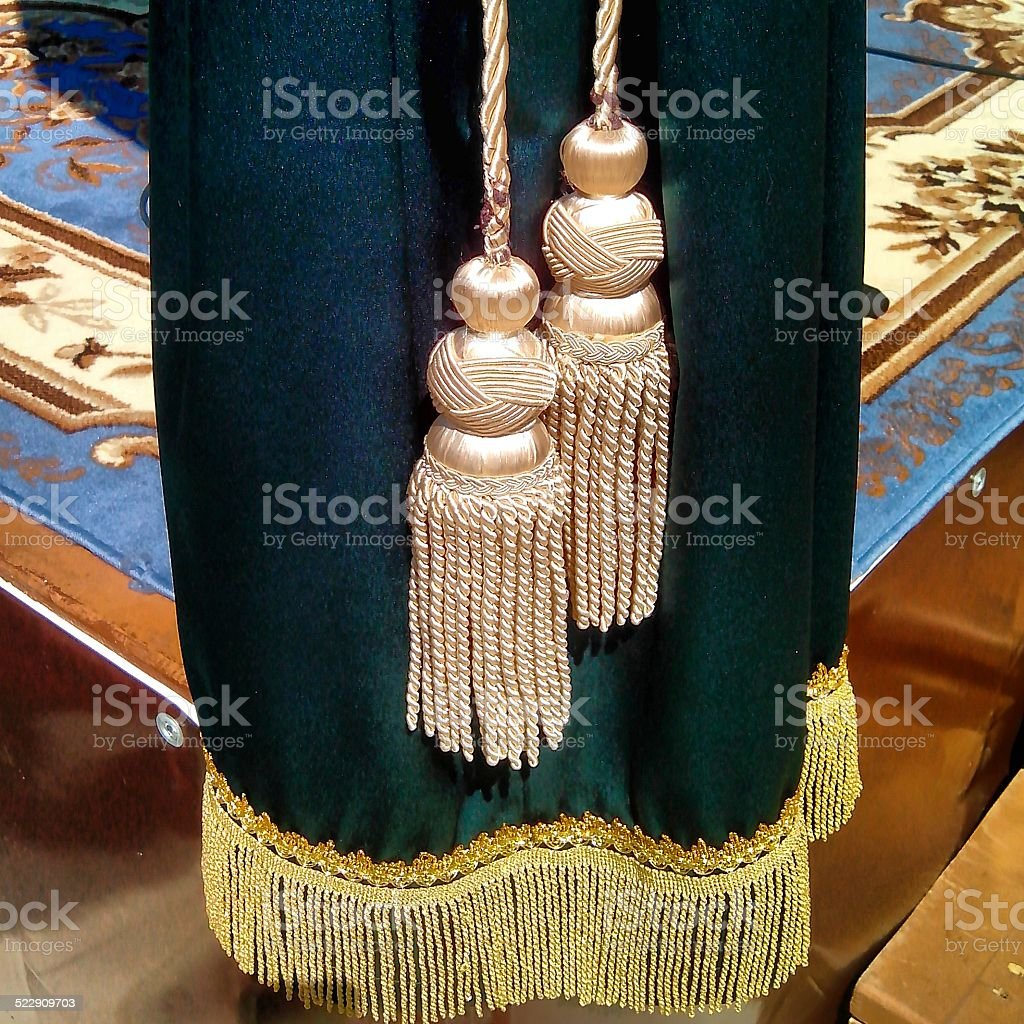 Curtain with brushes. stock photo