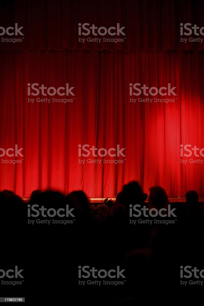 Curtains Closed royalty-free stock photo