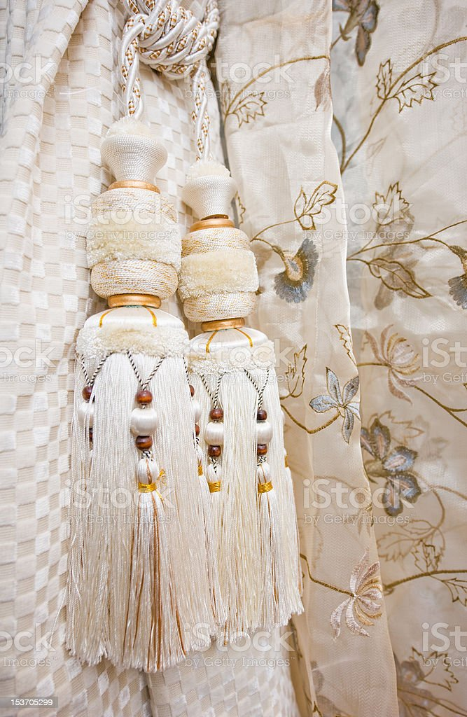 curtains with ornaments royalty-free stock photo