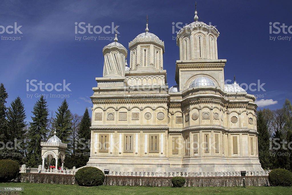 Curtea de Arges Cathedral - Romanian landmark stock photo