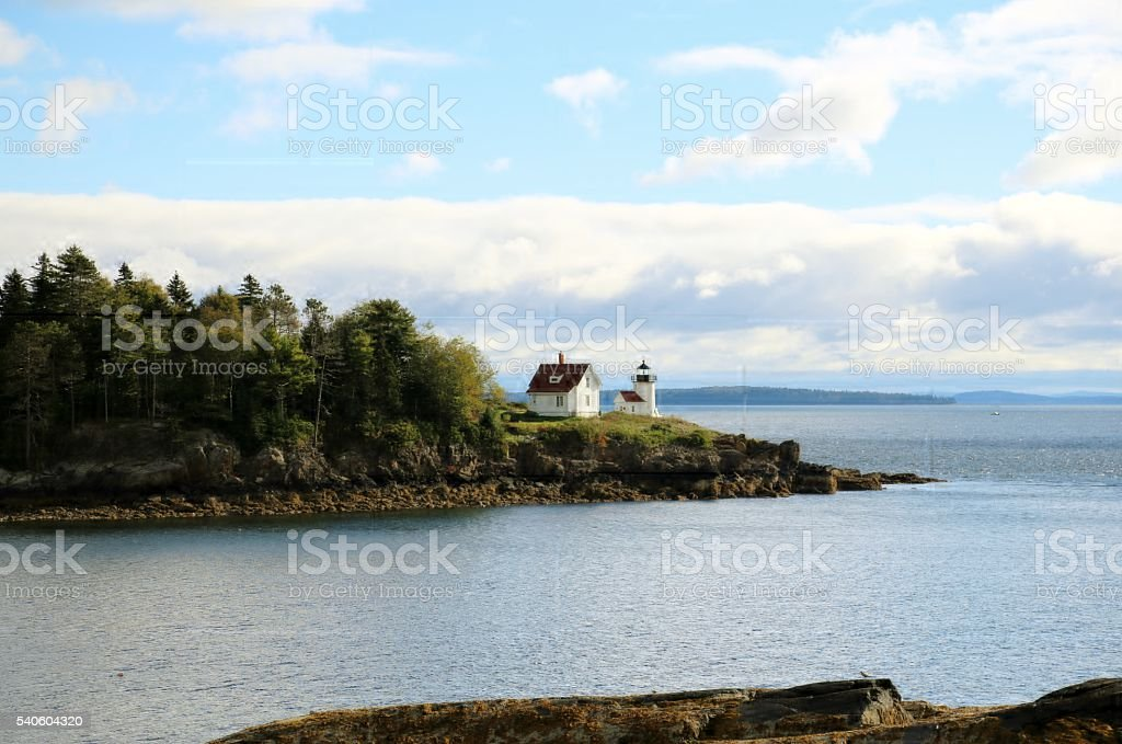 Curtis Island Lighthouse Overlook stock photo