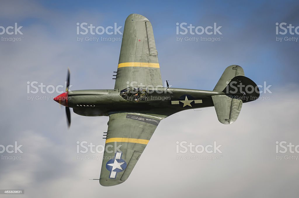 Curtiss P40 Warhawk stock photo
