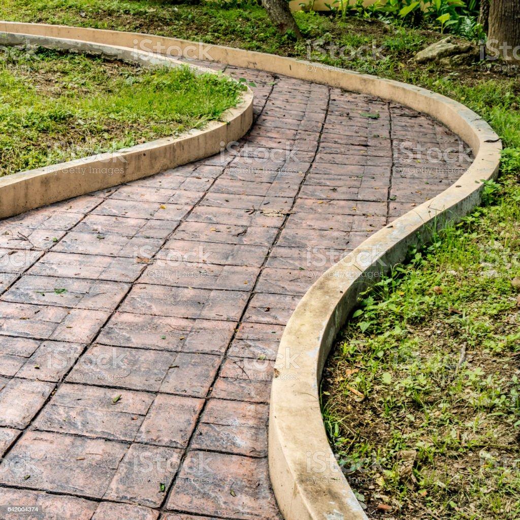 Curve concrete ramp for wheelchair stock photo