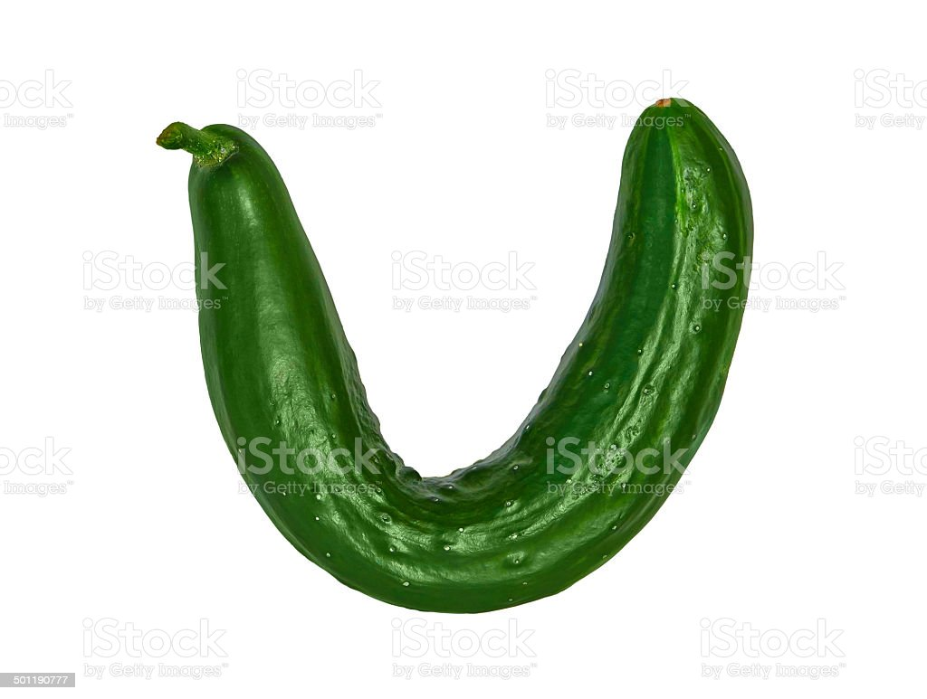 curve cucumber royalty-free stock photo