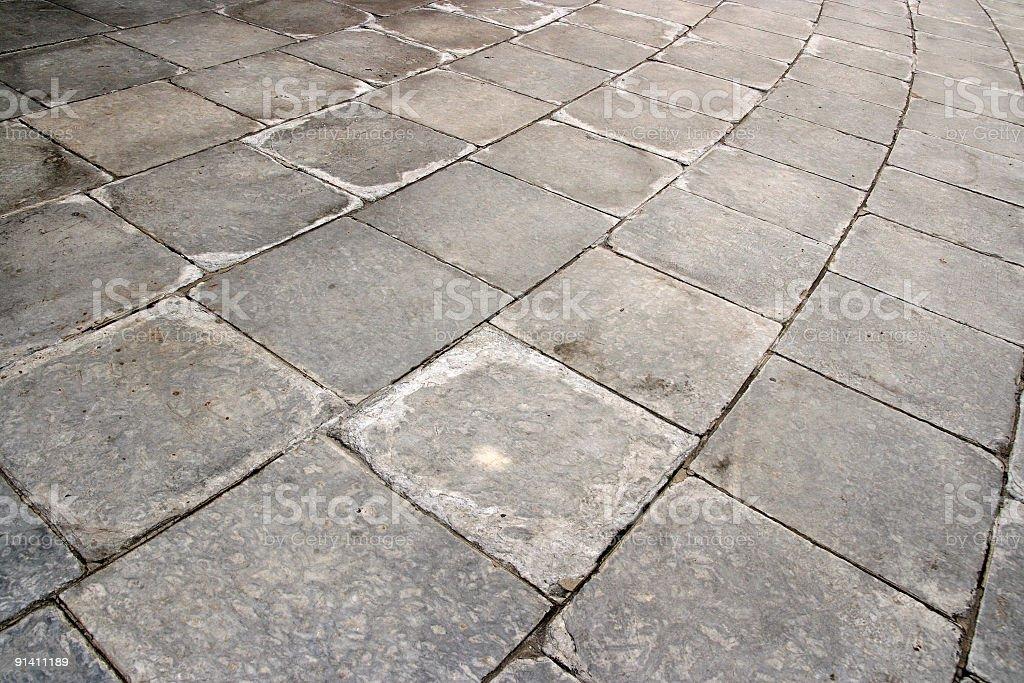 Curve Grey Paving Stone Background royalty-free stock photo