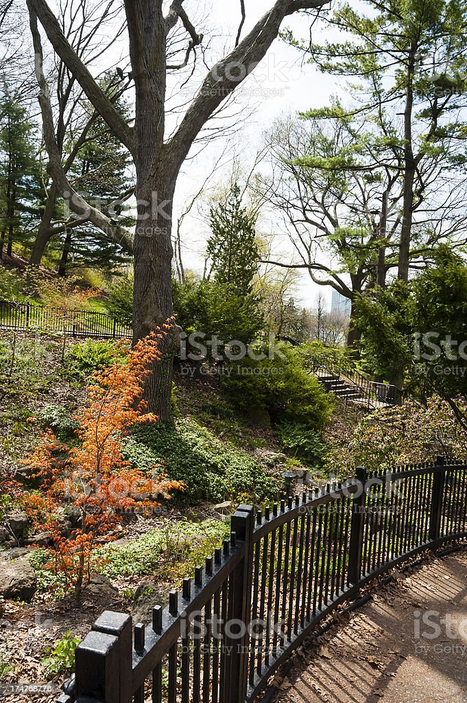 Curve In The Fence royalty-free stock photo