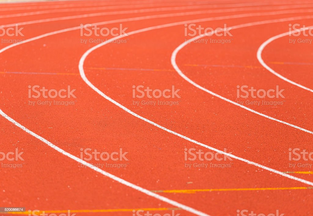 curve line on running track stock photo