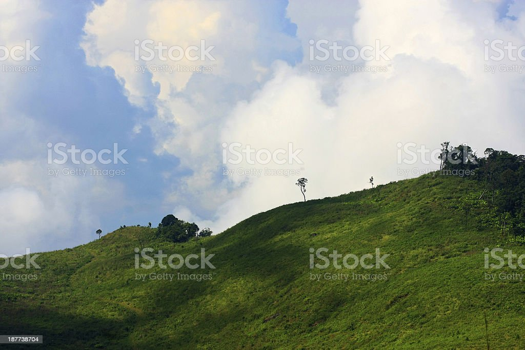 curve of mountain and blue sky royalty-free stock photo