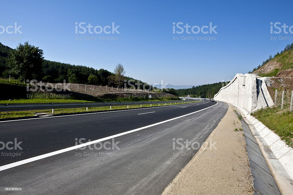 Curve  on New High Road royalty-free stock photo