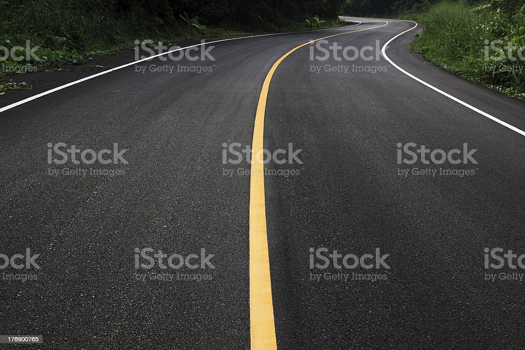 curve road stock photo