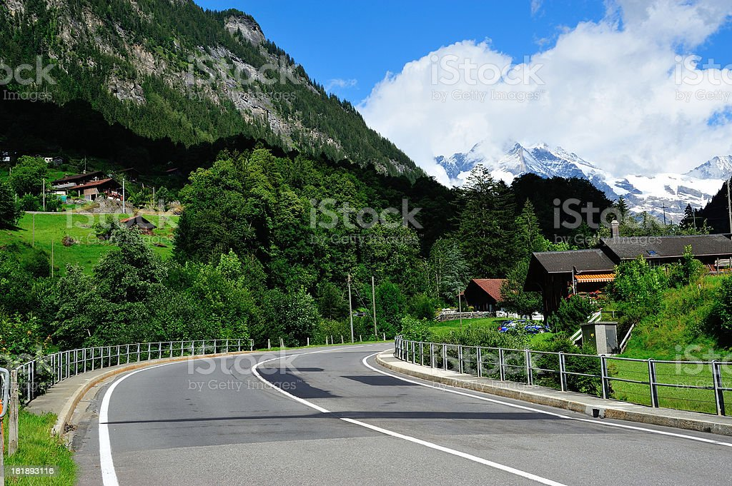 Curve Road royalty-free stock photo