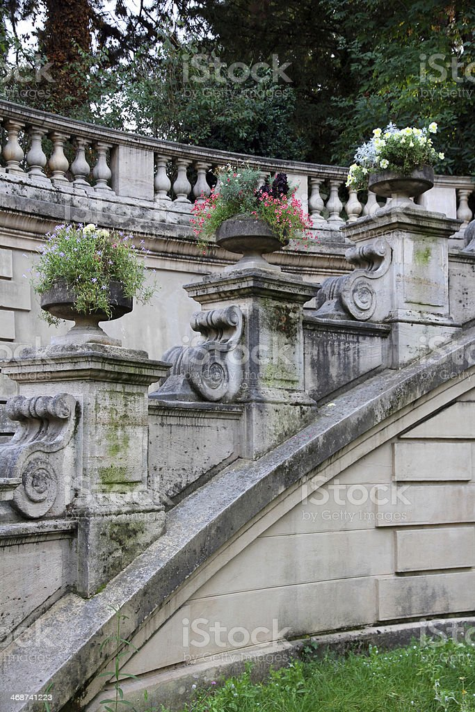 Curve Sweep of Stairs royalty-free stock photo