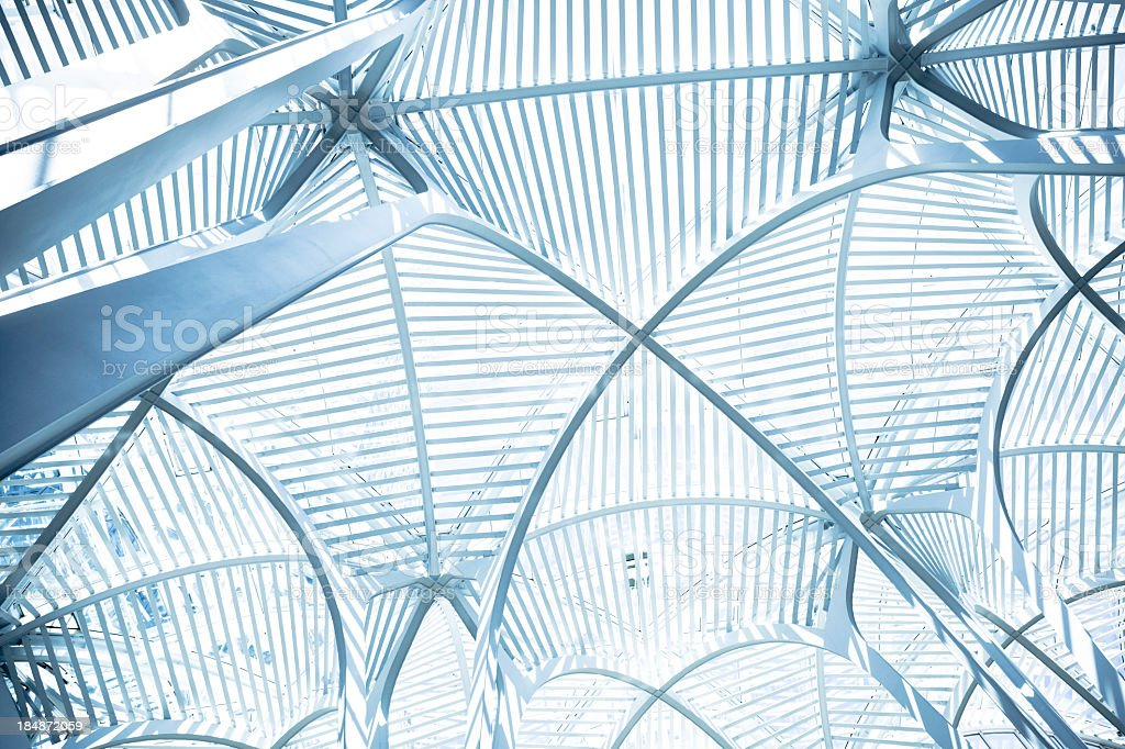 Curved arch ceiling royalty-free stock photo
