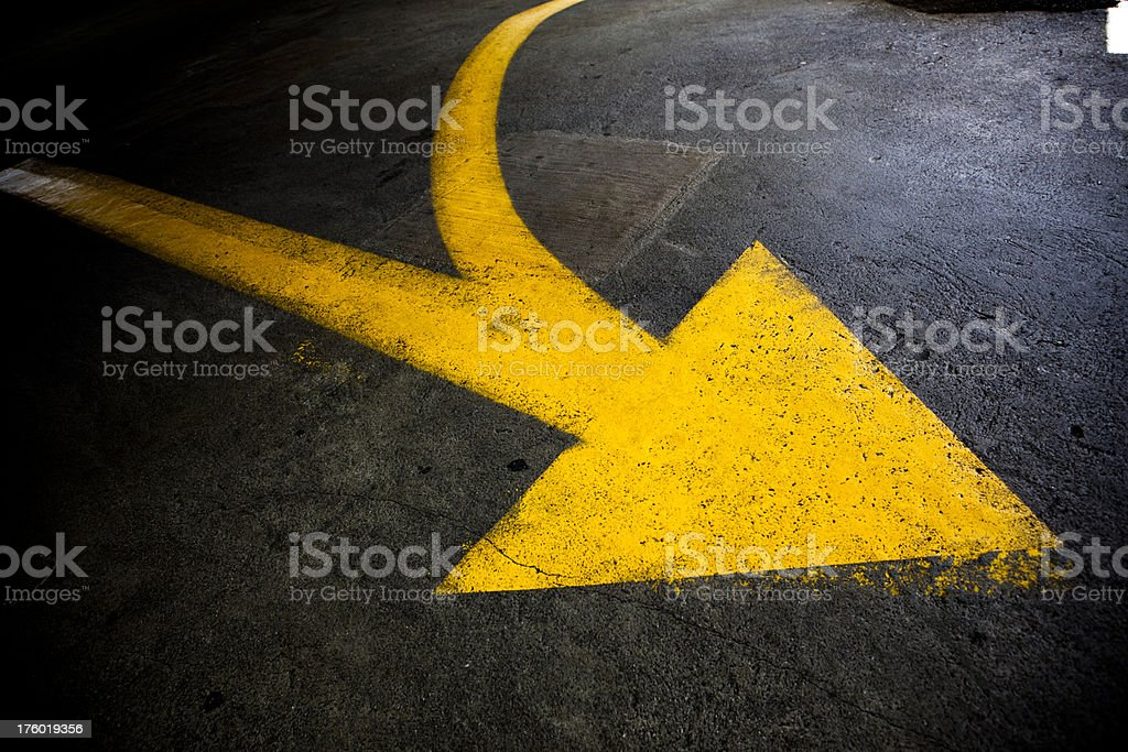curved arrow royalty-free stock photo