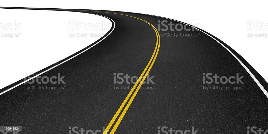 Curved asphalt road royalty-free stock photo