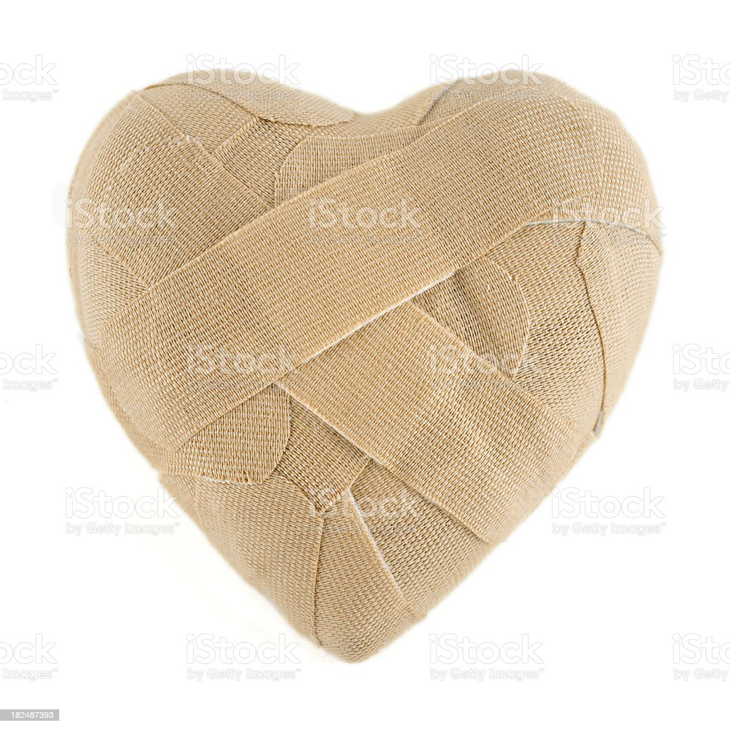 Curved bandage heart royalty-free stock photo