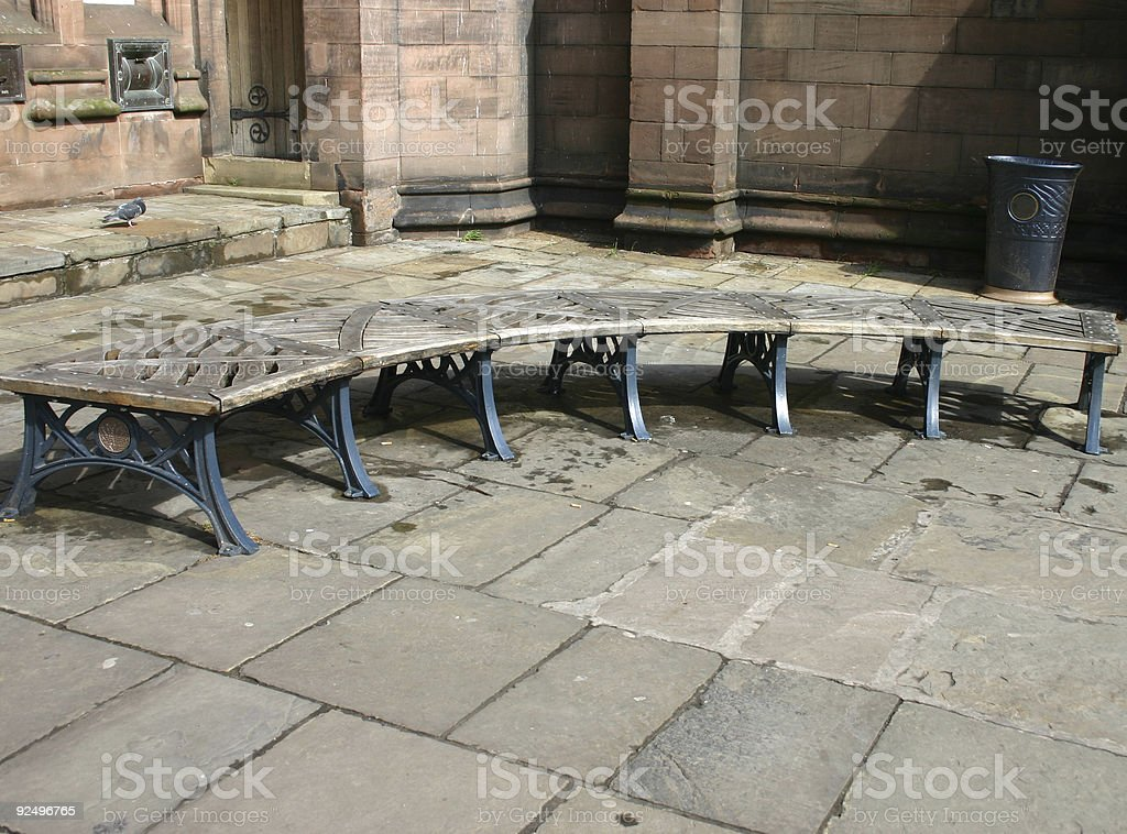 Curved Bench royalty-free stock photo