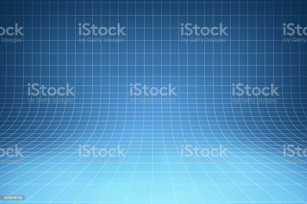 Curved blue background stock photo