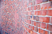 curved brick wall