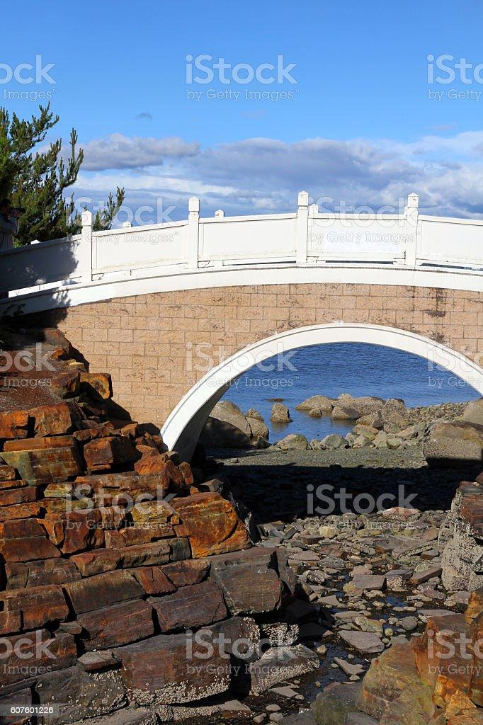 Curved Bridge stock photo