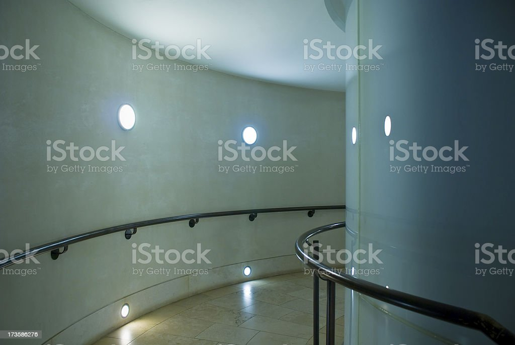 Curved Corridor royalty-free stock photo