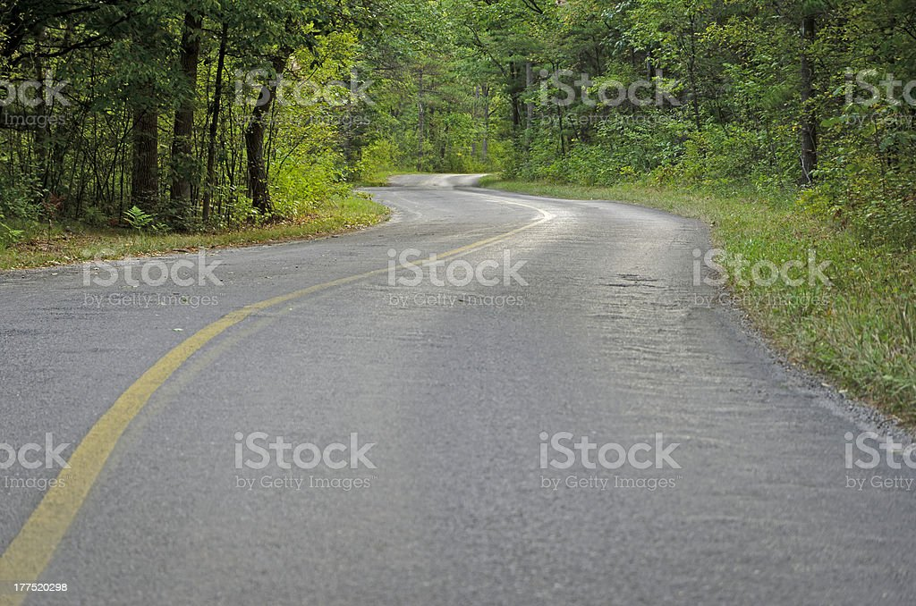 curved country road royalty-free stock photo