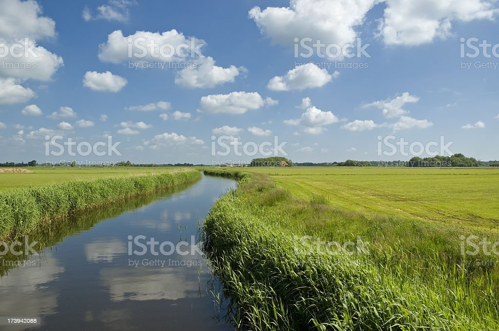 Curved Ditch royalty-free stock photo