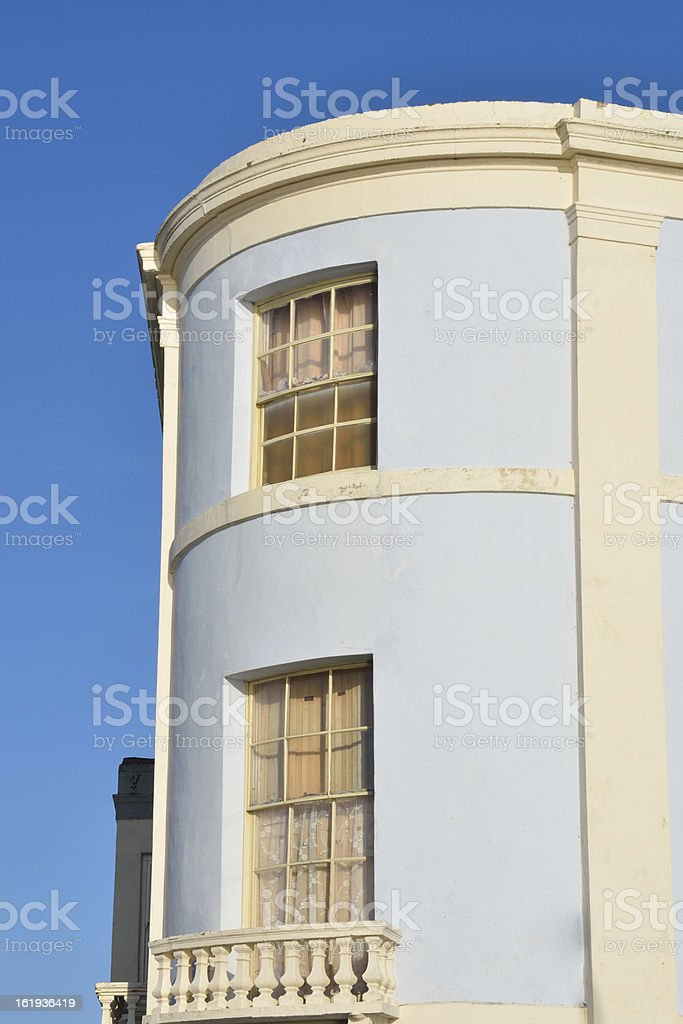 Curved end of town houses royalty-free stock photo