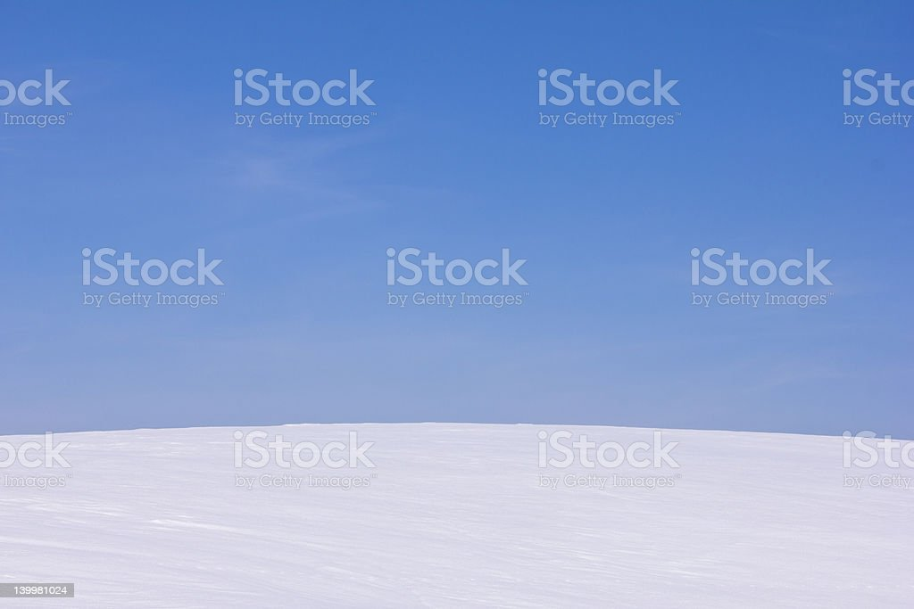 curved field stock photo