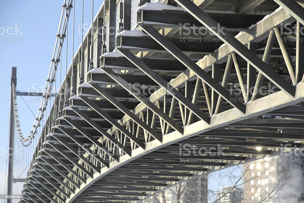 Curved Girders stock photo