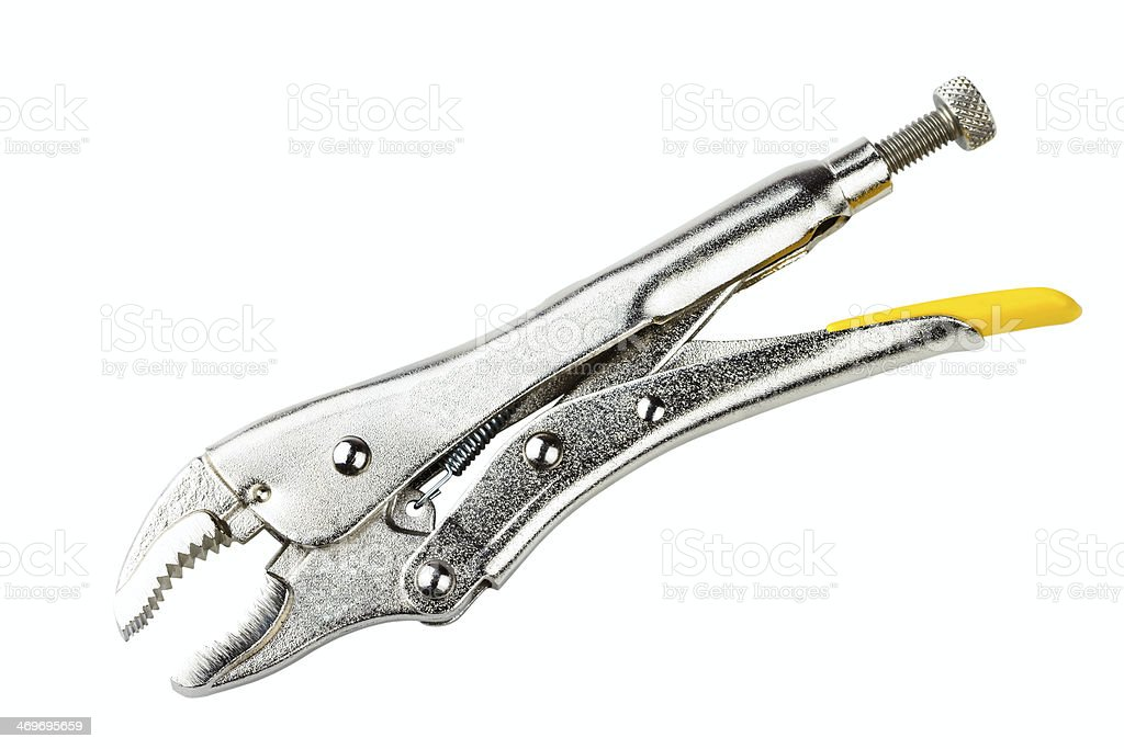 curved jaw locking pliers royalty-free stock photo