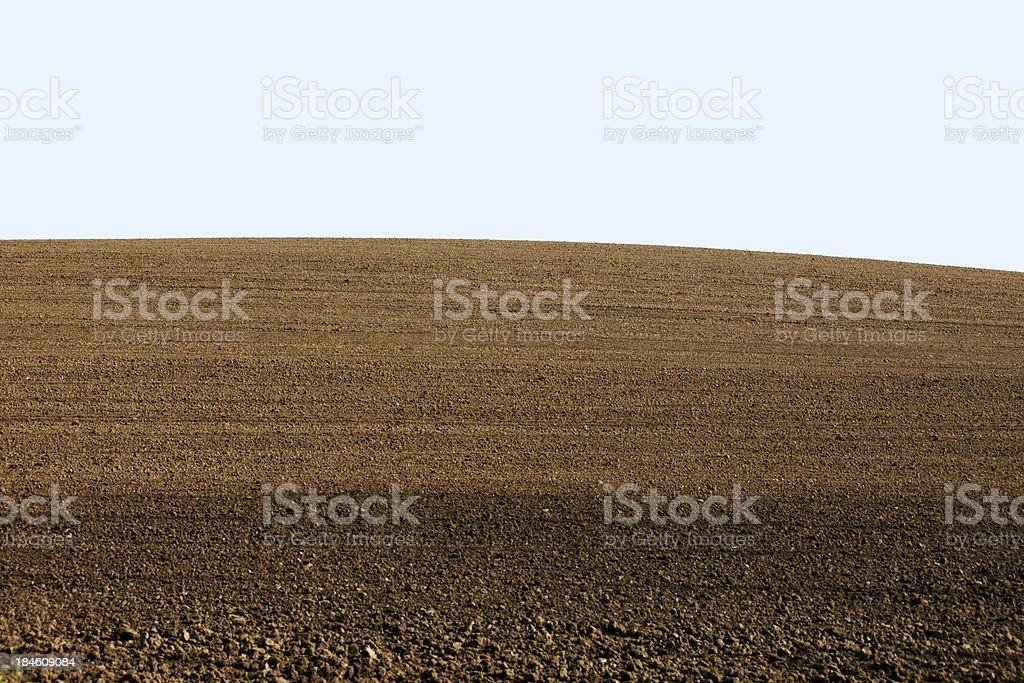 Curved Landscaped Hill Crest Background royalty-free stock photo
