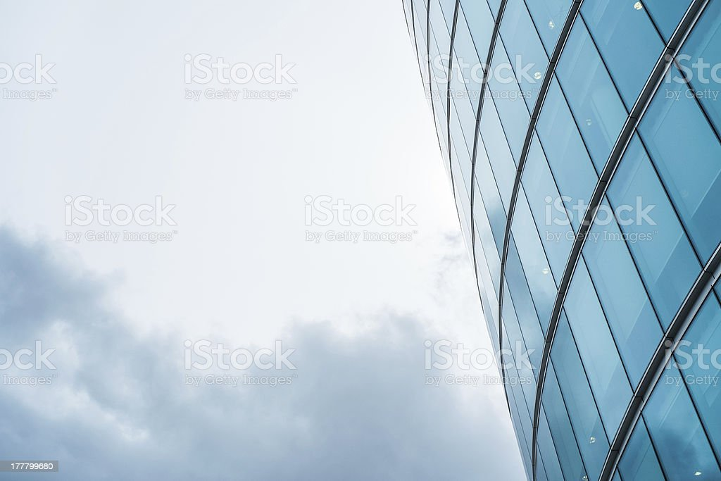 Curved office block facade royalty-free stock photo