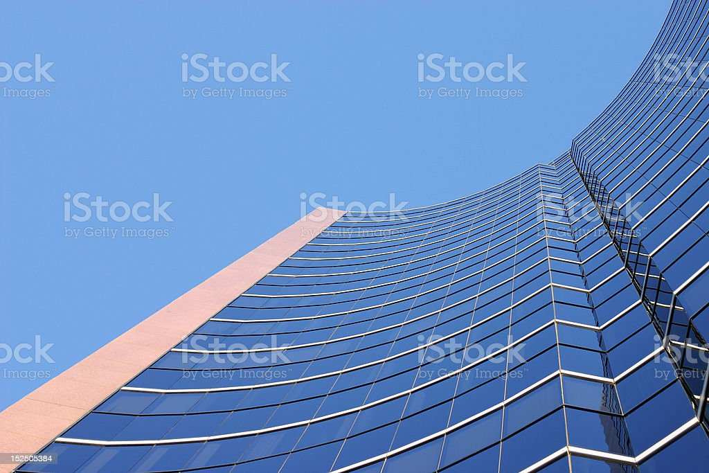 Curved Office Building royalty-free stock photo