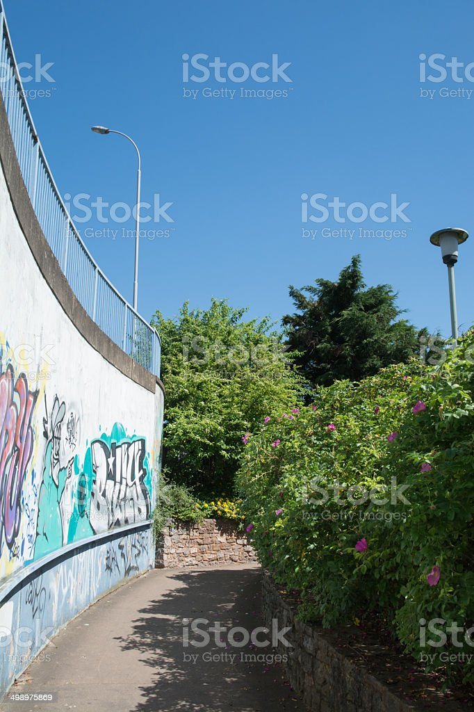 Curved Path royalty-free stock photo