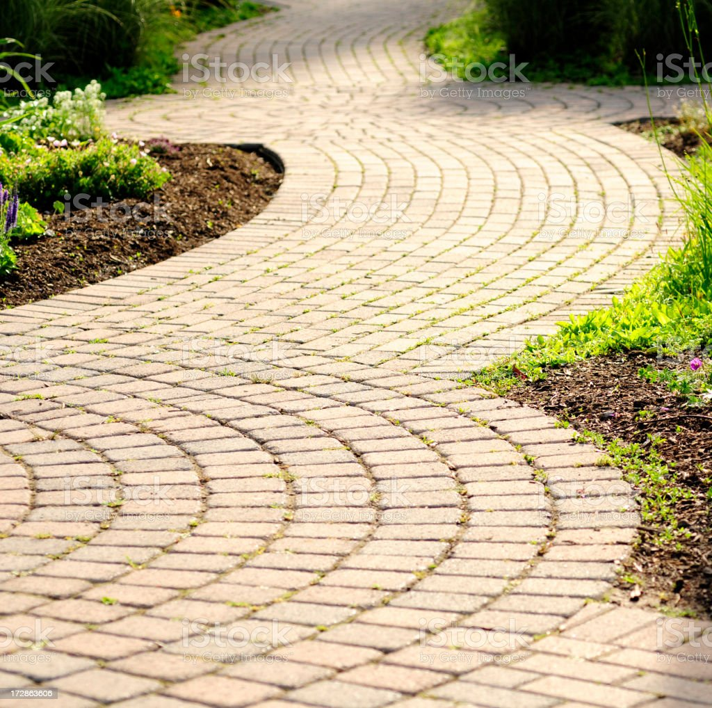 Curved Pathway royalty-free stock photo