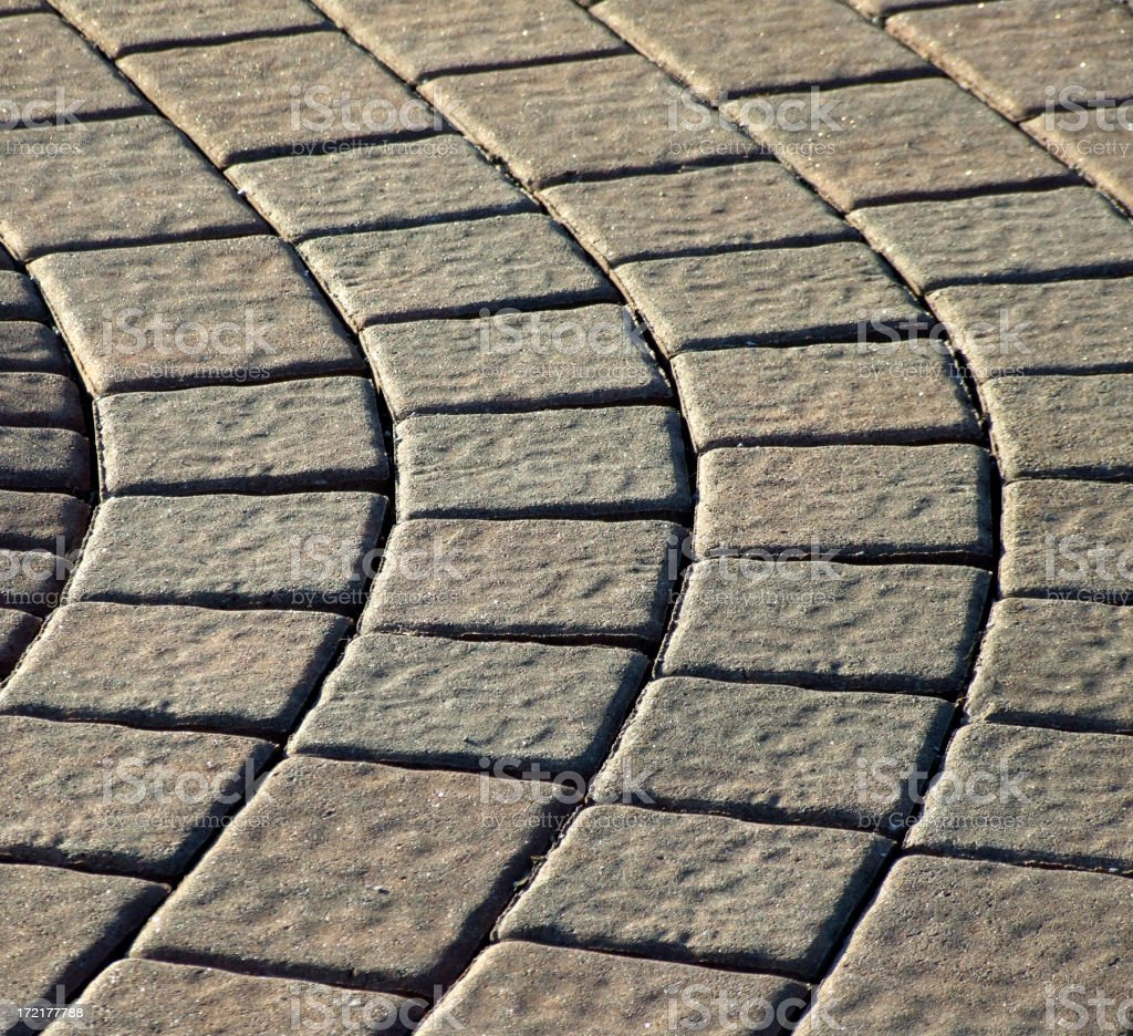 Curved Pavers royalty-free stock photo