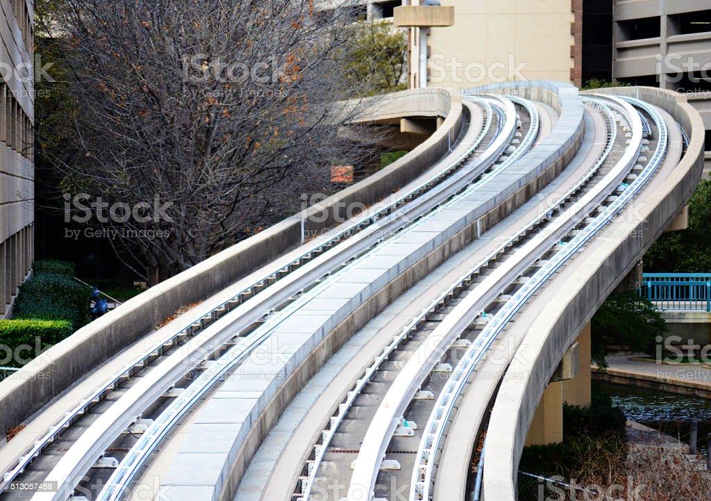 Curved railway stock photo