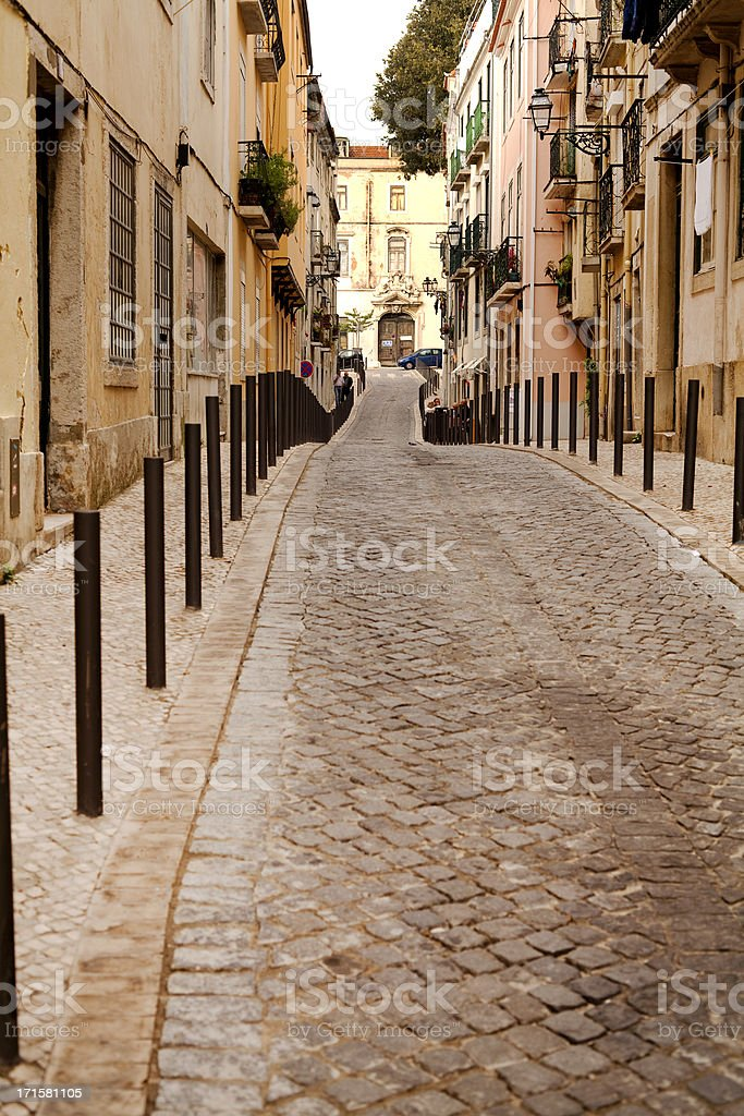 Curved Road royalty-free stock photo
