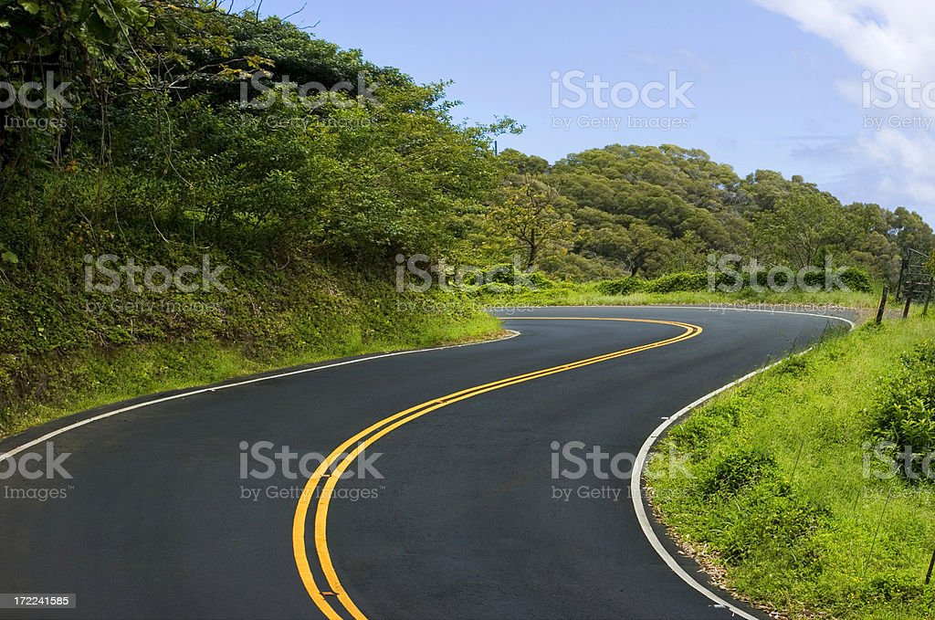Curved Road stock photo