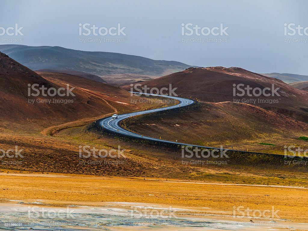 S curved road stock photo