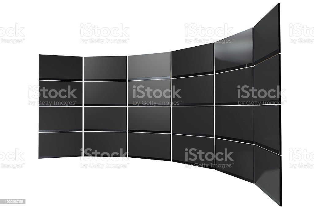 LCD Curved Screen Collection royalty-free stock photo