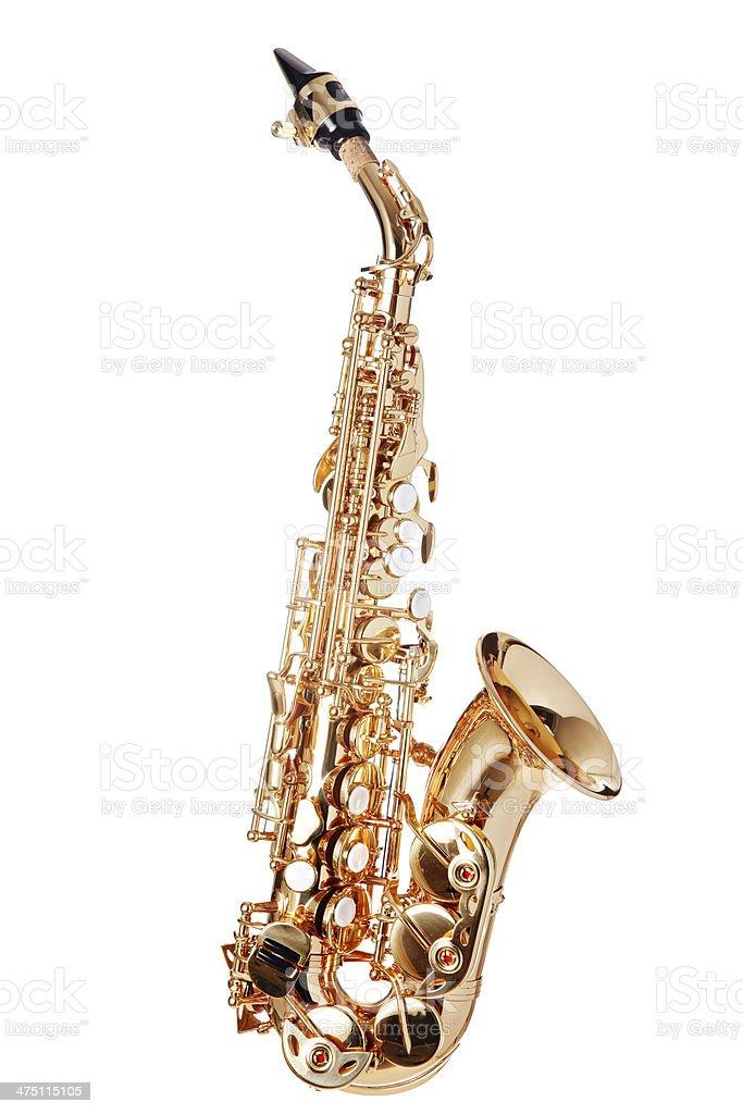 Curved Soprano Saxophone stock photo
