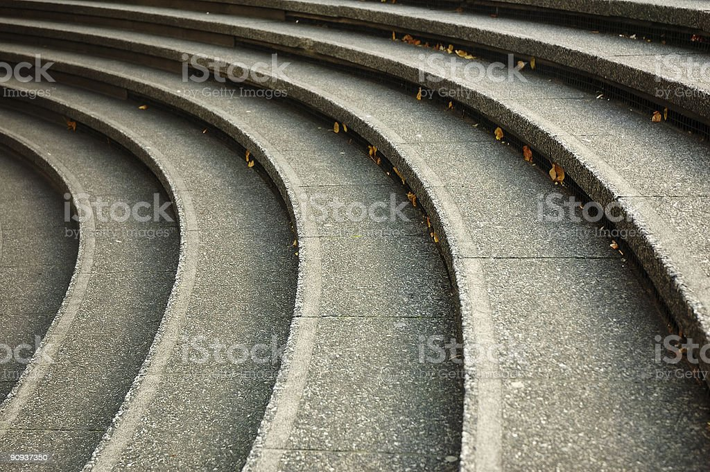 curved steps royalty-free stock photo