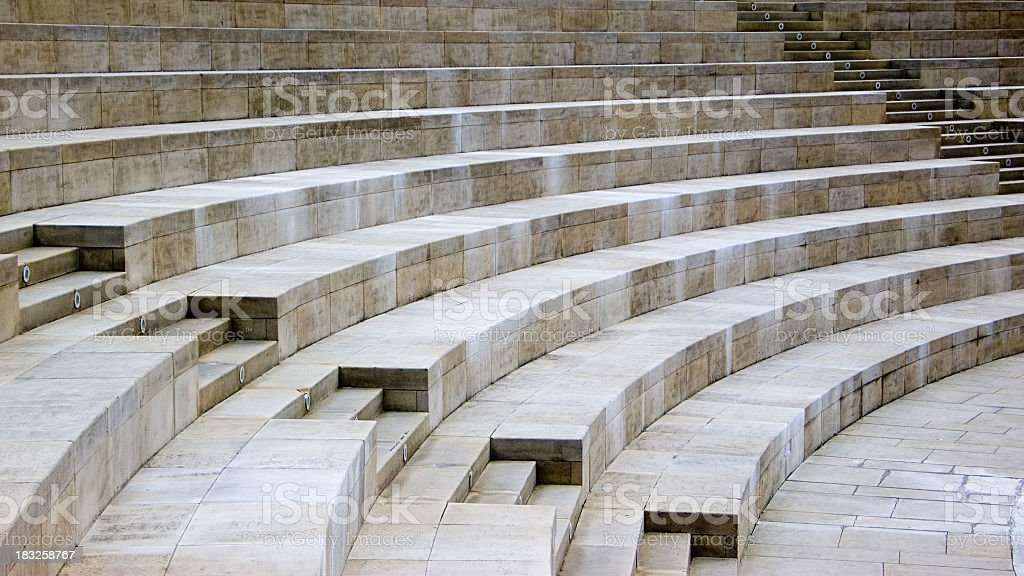 Curved Stone Seating royalty-free stock photo