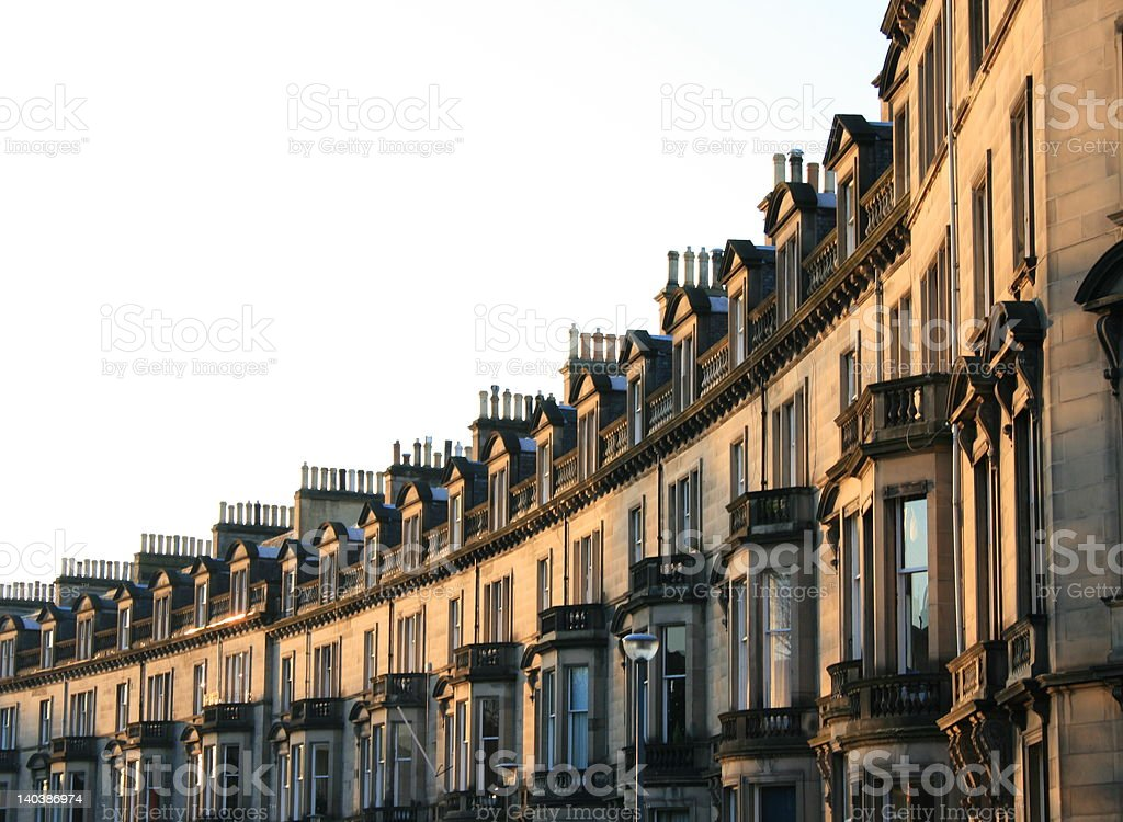 Curved Street stock photo