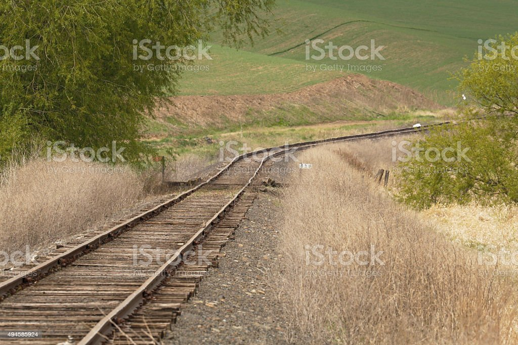 Curved Tracks royalty-free stock photo
