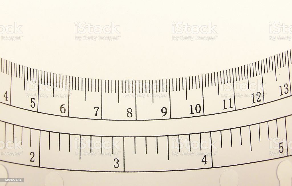 Curved Transparent Ruler stock photo