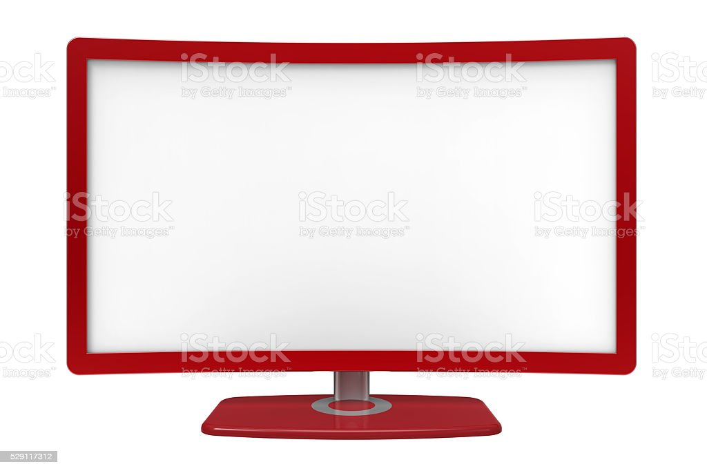 Curved tv screen stock photo
